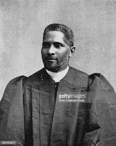 Black and white portrait of Alexander Walters an American clergyman and noted civil rights leader who was born a slave in Bardstown Kentucky just...