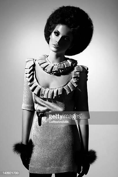 Noir et blanc portrait de Belle femme