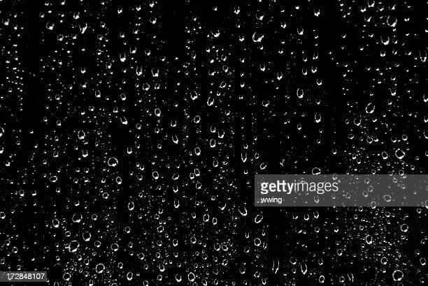Noir et blanc à jets de pluie