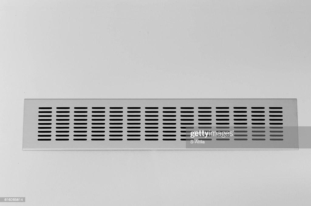 Black and white shot of ventilation hole : Stock Photo