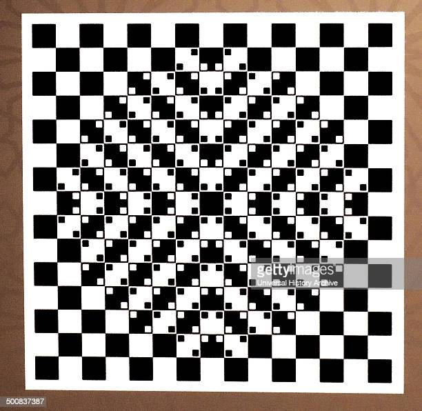 Black and white squares optical illusion