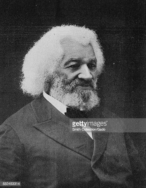 Black and white studio portrait of Frederick Douglass an AfricanAmerican social reformer abolitionist orator writer and statesman 1902 From the New...