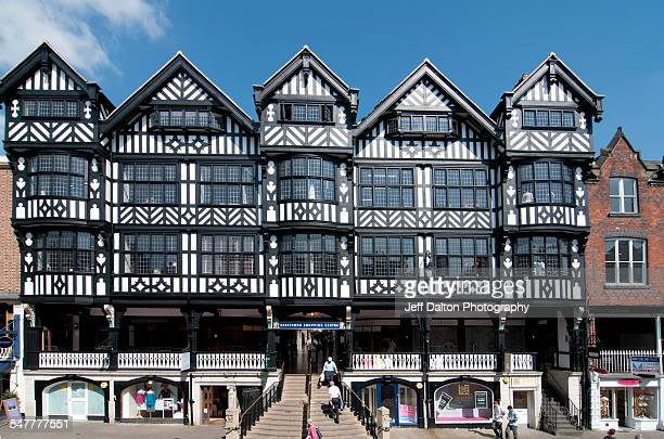 Black and white Tudor style buildings in Chester