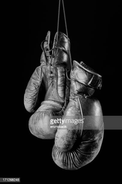 Black and white Vintage boxing gloves