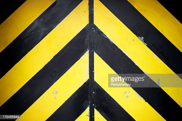 Black and Yellow Stripes Hazard Background