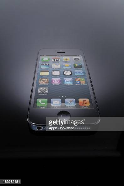 This image has been digitally manipulated A black Apple iPhone 5 smartphone taken on October 30 2012