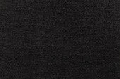 Black background from a textile material. Fabric with natural texture. Cloth backdrop.