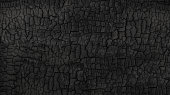 Grunge. Burned wood texture. Black background