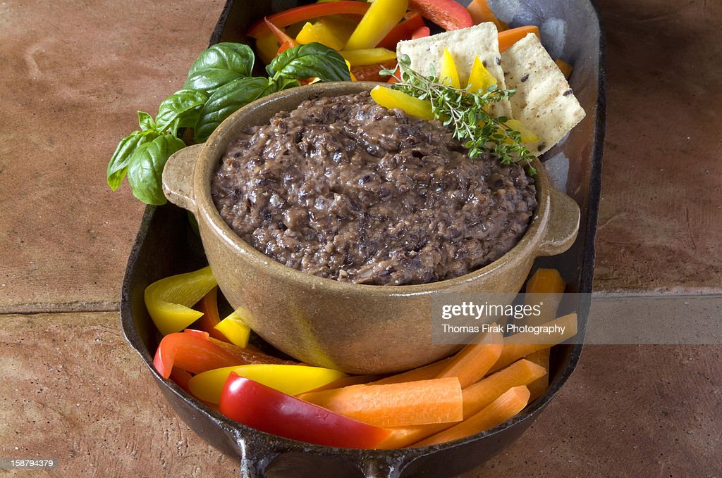 Black Bean Dip : Stock Photo