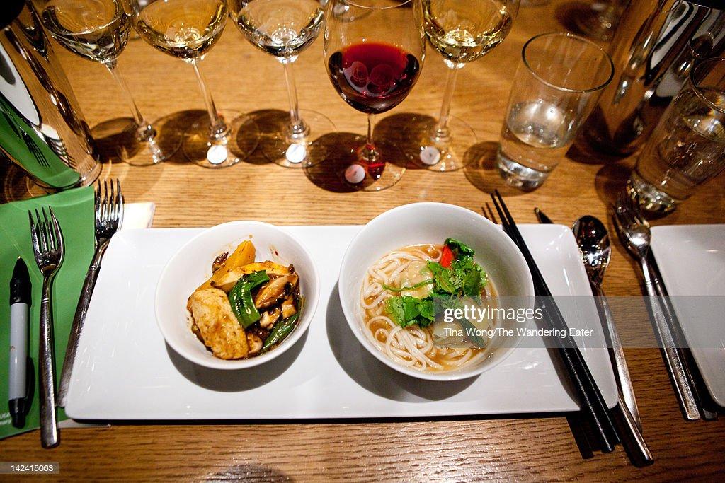 Black bean silken tofu and roast duck : Stock Photo