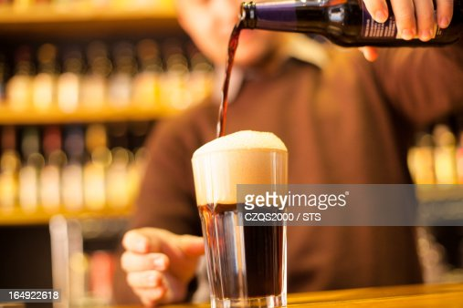 black beer : Stock Photo