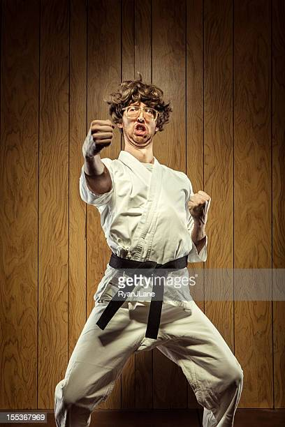 Black Belt Karate Nerd Mann
