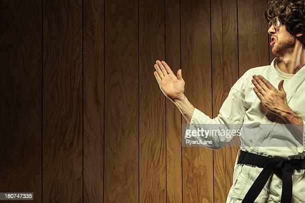 Black Belt Karate Nerd Man
