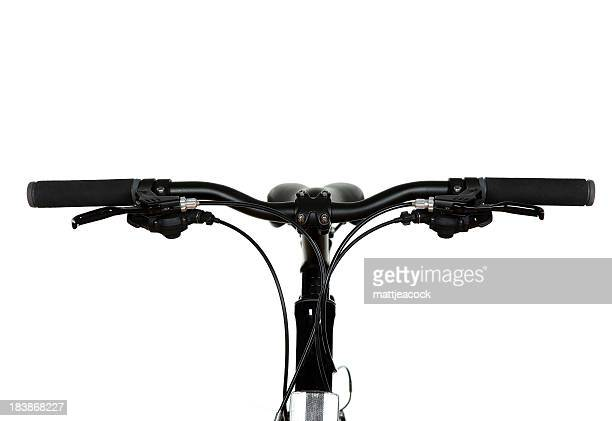 Black Fahrrad Lenker auf weißem Hintergrund.