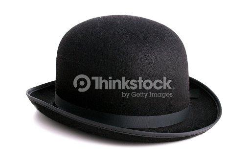8c0947810e5 Black Bowler Hat Isolated On White Background Stock Photo