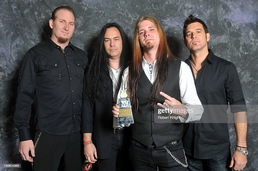 Black Box 13 portraits after they receive the award for 'Best Vegas Hard Rock Band' at the Vegas Rocks! Magazine Awards 2012 at the Joint at the Hard Rock Hotel and Casino on August 26, 2012 in Las Vegas, Nevada.
