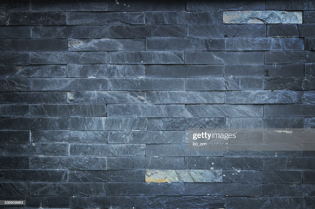 Black brick stone. : Stock Photo
