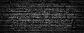 Dark brick wall, high resolution panorama for grunge background