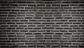black brick wall for background texture