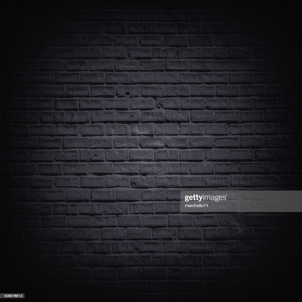 Black brick wall : Stockfoto