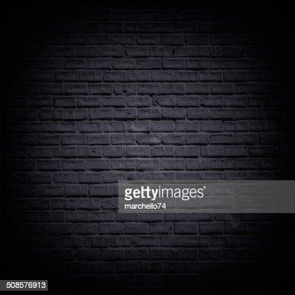 Black brick wall : Stockfoto