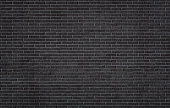 Black brick wall texture, background with copy space