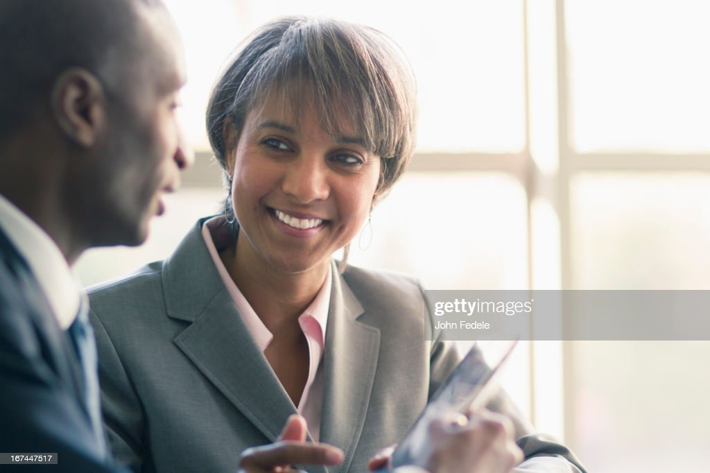 Black business people talking : Stock Photo