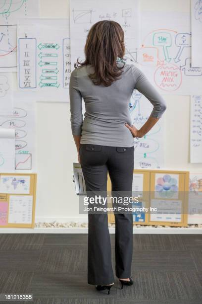 Black businesswoman standing in office