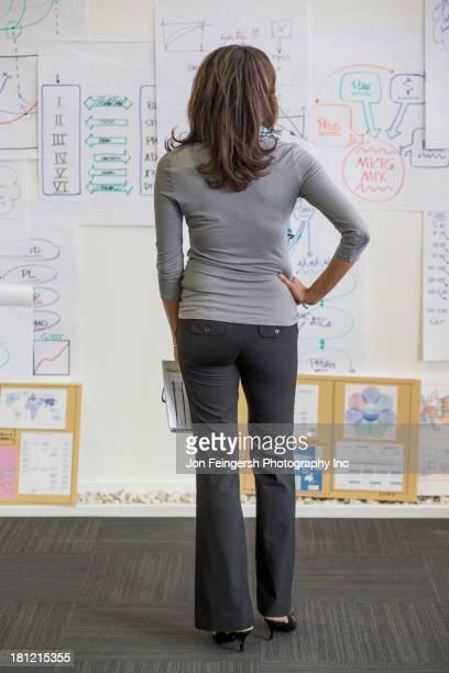 Black businesswoman standing in office