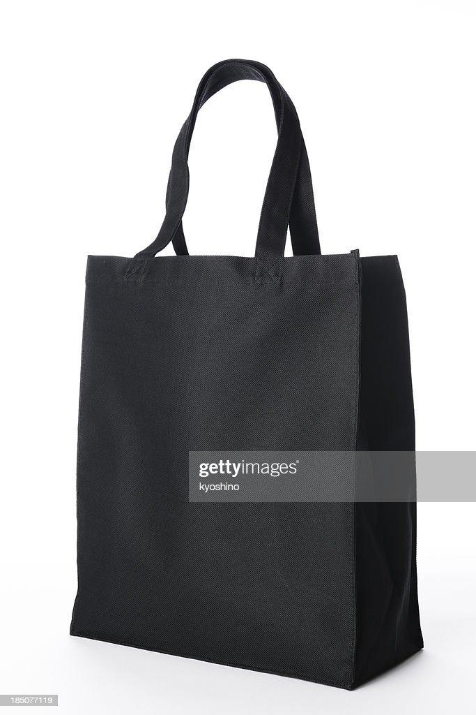 Black Canvas Tote Bag : Stock Photo