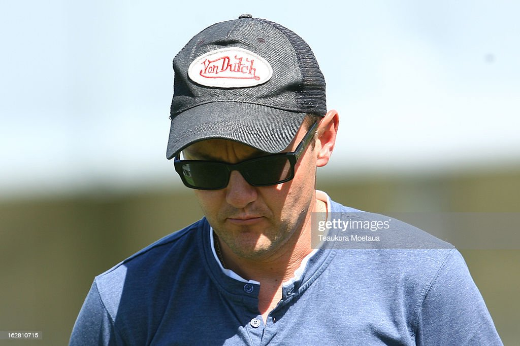 Black Caps Head Coach Mike Hesson looks on during day two of the International tour match between the New Zealand XI and England at Queenstown Events Centre on February 28, 2013 in Queenstown, New Zealand.
