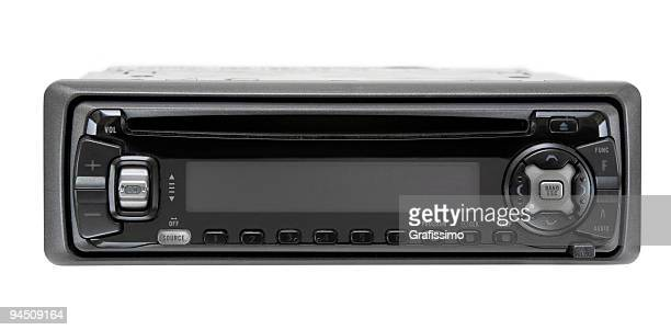 Black car audio CD-Player isolated on white