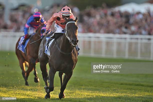 Black Caviar ridden by jockey Luke Nolen wins The TJ Smith Stakes her 25th race in a row It is a success record not equalled for over 100 years...