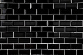 Black ceramic tiles, Wallpaper and background concept.