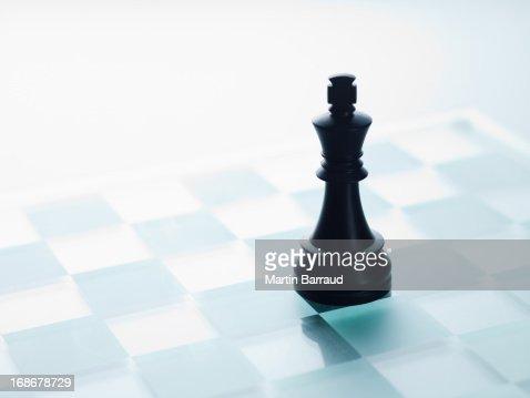 Noir Pièce d'échecs