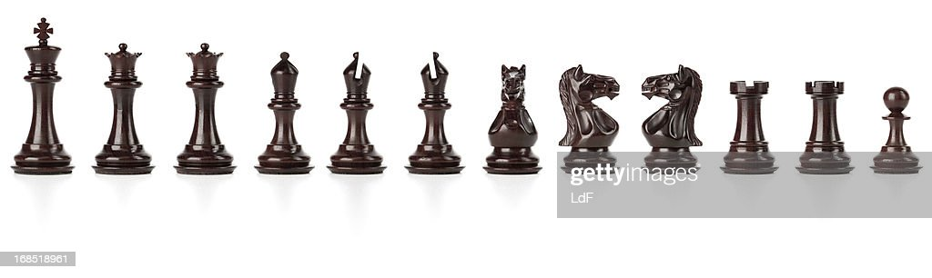 Black Chess Set isolated with clipping path