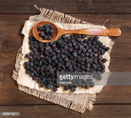 Black Chickpea with a spoon : Stock Photo
