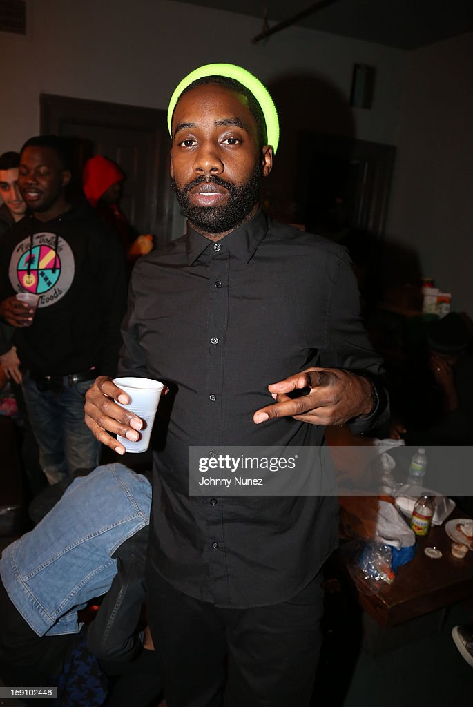 Black Cobain attends backstage at the Bowery Ballroom on January 7, 2013 in New York City.
