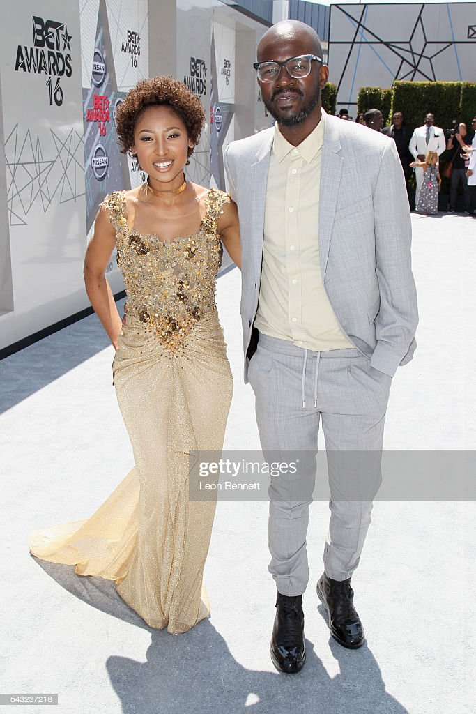 DJ Black Coffee (R) and Mbali Mlotshwa attends the Make A Wish VIP Experience at the 2016 BET Awards on June 26, 2016 in Los Angeles, California.