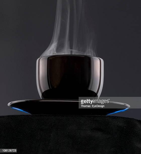 ブラックコーヒーのカップ
