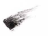 Black color Mascara brush stroke on background