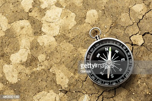 Black compass : Stockfoto