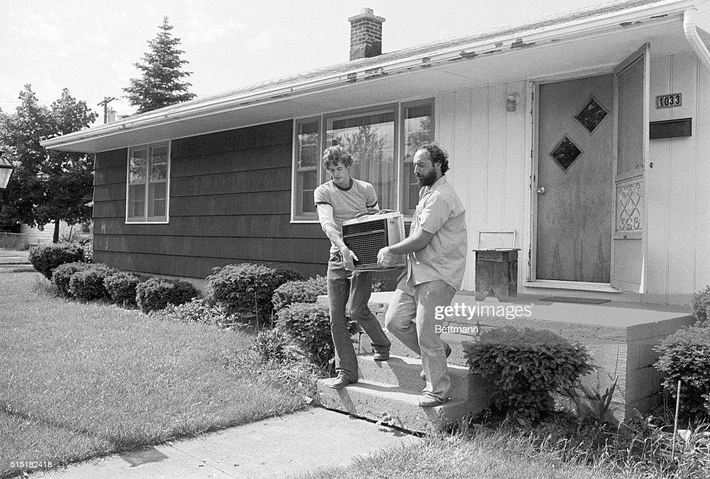 Black Creek, New York  Tony Manganero (r) And Neighbor Steven Delles,