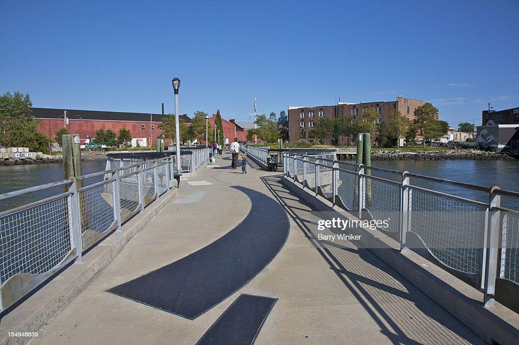 Black curves on recreation pier. : Stock Photo