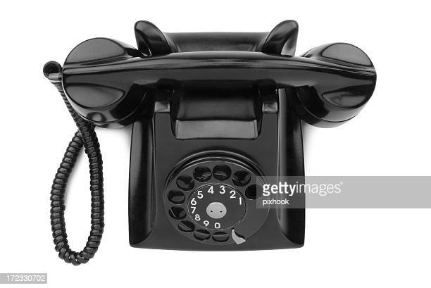 Black Desk Phone with Path
