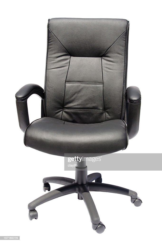 black executive leather chair