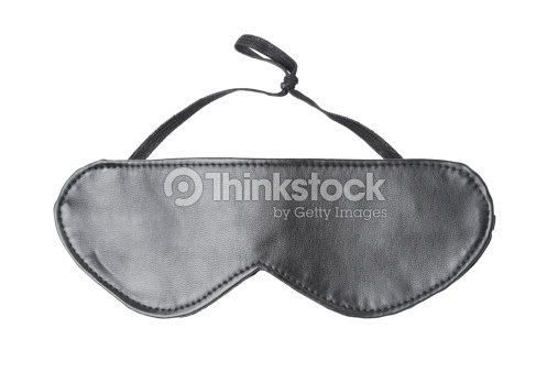 4cfbf31f5f3 Black Eye Mask Made Of Leather On A White Background Stock Photo ...