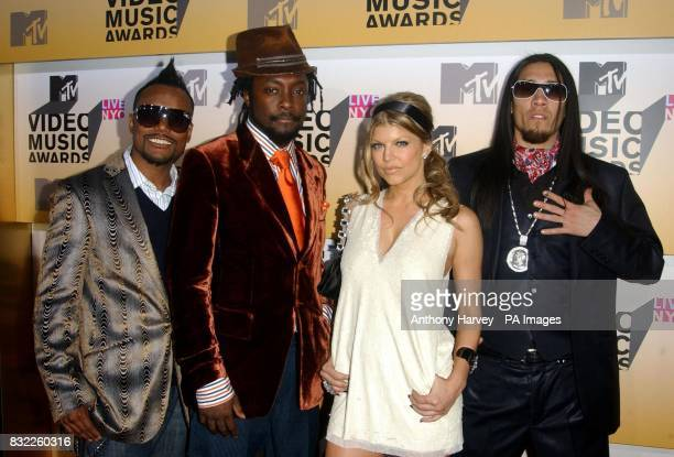 Black Eyed Peas arrive at the MTV Video Music Awards at Radio City New York