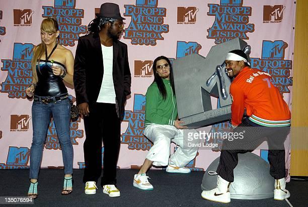 Black Eyed Peas during 2005 MTV European Music Awards Lisbon Press Room at Atlantic Pavillion in Lisbon Portugal