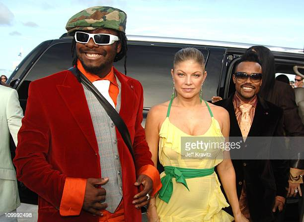 Black Eyed Peas during 2005 MTV Video Music Awards White Carpet at American Airlines Arena in Miami Florida United States